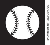 simple baseball with stitches... | Shutterstock .eps vector #269089703