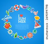 summer concept. flat icons... | Shutterstock .eps vector #269099798
