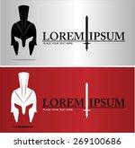 centurion warrior helmet. an... | Shutterstock .eps vector #269100686