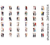 many colleagues isolated groups  | Shutterstock . vector #269101514