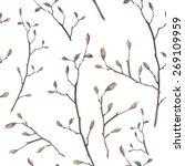 Watercolor Twigs Pattern....