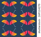 Vector Umbrellas Background....