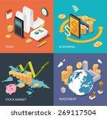 flat isometric concept for... | Shutterstock .eps vector #269117504