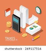 flat 3d isometric design... | Shutterstock .eps vector #269117516