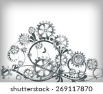 abstract mechanical background... | Shutterstock .eps vector #269117870