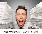 emotional stress  exhaustion ... | Shutterstock . vector #269125334