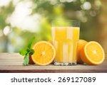 orange juice  juice  orange. | Shutterstock . vector #269127089