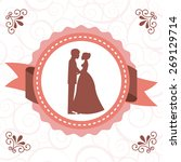 wedding card design  vector... | Shutterstock .eps vector #269129714