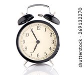 old fashioned alarm clock on... | Shutterstock . vector #269132270