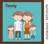 family design over blue... | Shutterstock .eps vector #269133194