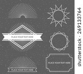 hipster  graphic dusty textured ... | Shutterstock .eps vector #269133764