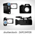 camera design over white...   Shutterstock .eps vector #269134928