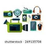 social media design  vector... | Shutterstock .eps vector #269135708