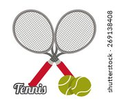 tennis design over white... | Shutterstock .eps vector #269138408