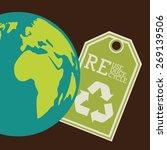 energy saving design over brown ...   Shutterstock .eps vector #269139506