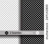 white and black seamless...   Shutterstock .eps vector #269142800