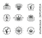 set of medical marijuana logos. ...   Shutterstock .eps vector #269145314
