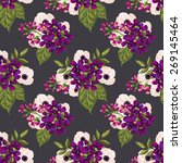 seamless vintage pattern with...   Shutterstock .eps vector #269145464