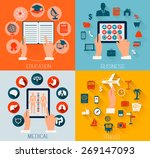 set of flat design backgrounds... | Shutterstock . vector #269147093