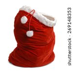 red velvet santa bag open... | Shutterstock . vector #269148353