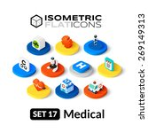 isometric flat icons  3d... | Shutterstock .eps vector #269149313