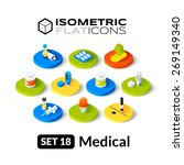 isometric flat icons  3d... | Shutterstock .eps vector #269149340