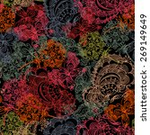 lovely floral butterfly... | Shutterstock .eps vector #269149649