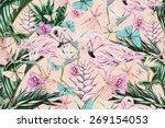 beautiful vintage seamless... | Shutterstock . vector #269154053
