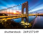 george washington bridge at... | Shutterstock . vector #269157149