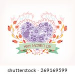 background with hand drawn... | Shutterstock . vector #269169599