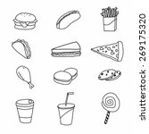 vector set of fastfood | Shutterstock .eps vector #269175320