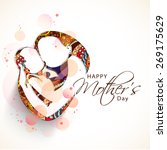 creative sketch of a mom with... | Shutterstock .eps vector #269175629