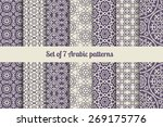 arabic or patterns set for... | Shutterstock .eps vector #269175776