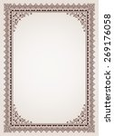 decorative border frame... | Shutterstock . vector #269176058