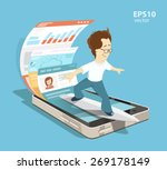 young programmer software... | Shutterstock .eps vector #269178149