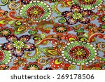 macro bright floral pattern on... | Shutterstock . vector #269178506