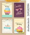 collection of birthday... | Shutterstock .eps vector #269182994