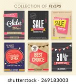 collection of six creative sale ... | Shutterstock .eps vector #269183003