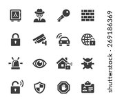 security icons set. | Shutterstock .eps vector #269186369