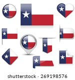 texas flag collection | Shutterstock .eps vector #269198576