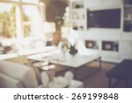 blurred modern living room with ... | Shutterstock . vector #269199848