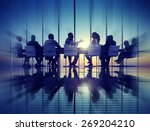 group of business people... | Shutterstock . vector #269204210