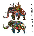 indian decorated elephant with... | Shutterstock .eps vector #269205110