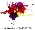 colorful ink splashes. | Shutterstock .eps vector #269205968