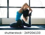 young woman doing yoga... | Shutterstock . vector #269206133