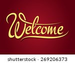 welcome hand lettering sign.... | Shutterstock .eps vector #269206373