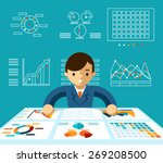 information analysis.... | Shutterstock .eps vector #269208500