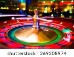 gambling with colorful spinning ... | Shutterstock . vector #269208974