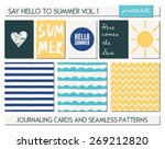 a set of five templates for... | Shutterstock .eps vector #269212820