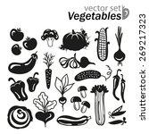 vegetables icon set on a white... | Shutterstock .eps vector #269217323